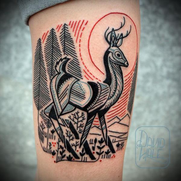89 Ideas para Tatuajes de Ciervos (+Significado) 62