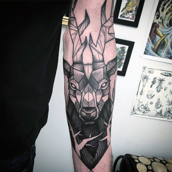 89 Ideas para Tatuajes de Ciervos (+Significado) 58