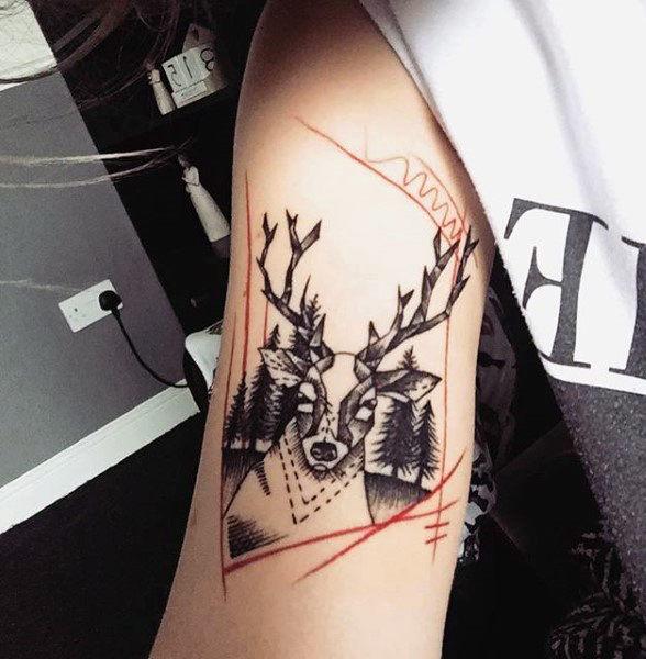 89 Ideas para Tatuajes de Ciervos (+Significado) 63