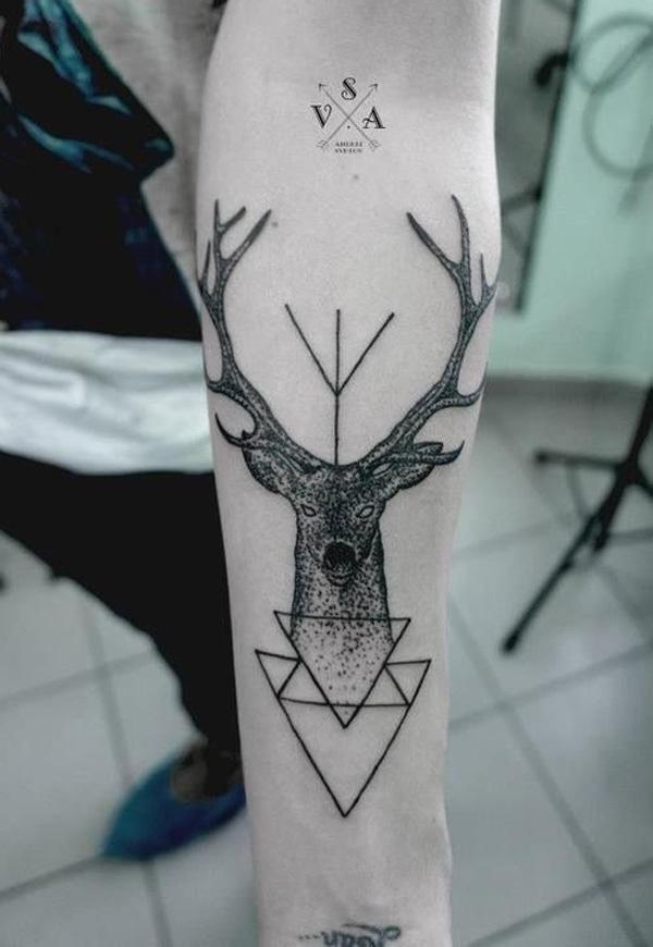 89 Ideas para Tatuajes de Ciervos (+Significado) 74