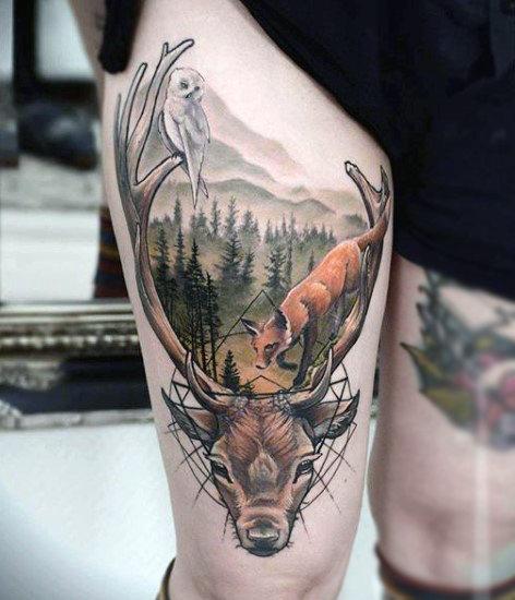 89 Ideas para Tatuajes de Ciervos (+Significado) 76