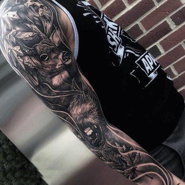 89 Ideas para Tatuajes de Ciervos (+Significado) 11