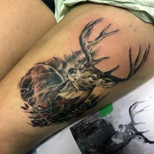 89 Ideas para Tatuajes de Ciervos (+Significado) 12