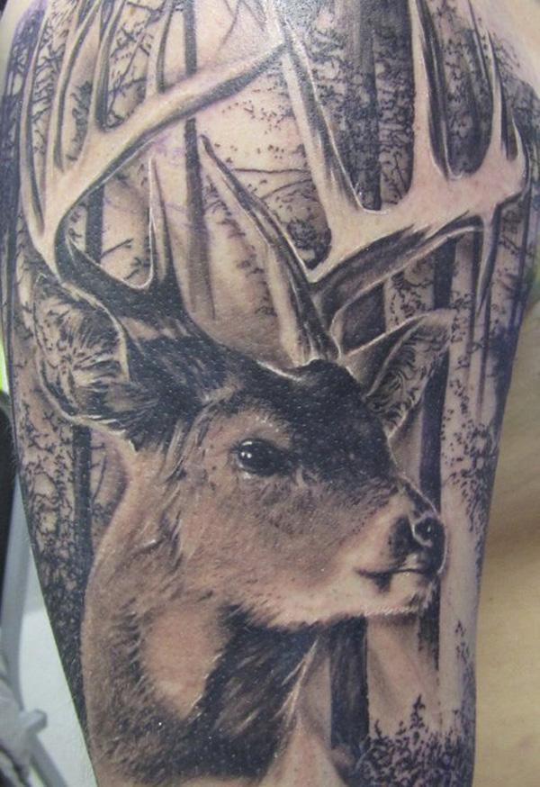 89 Ideas para Tatuajes de Ciervos (+Significado) 37