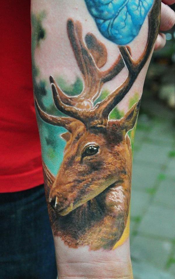 89 Ideas para Tatuajes de Ciervos (+Significado) 41