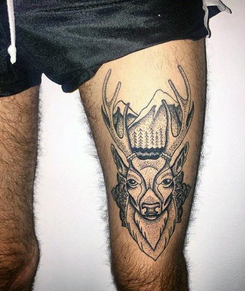 89 Ideas para Tatuajes de Ciervos (+Significado) 43