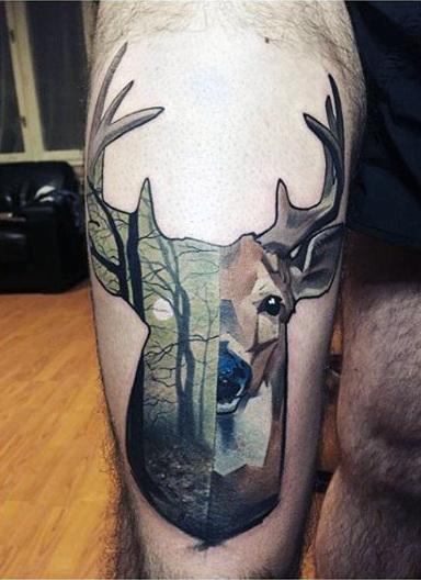 89 Ideas para Tatuajes de Ciervos (+Significado) 44