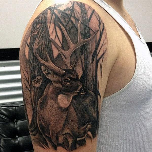 89 Ideas para Tatuajes de Ciervos (+Significado) 42