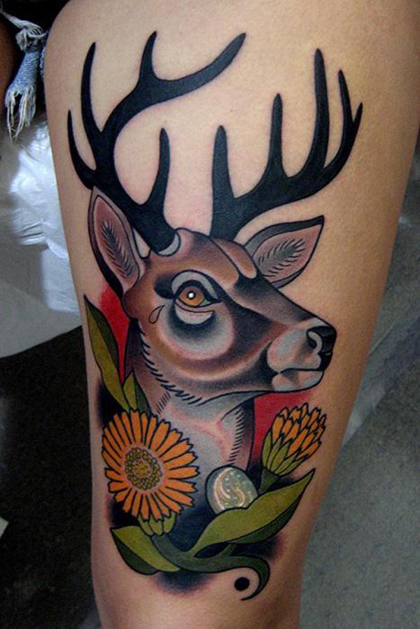 89 Ideas para Tatuajes de Ciervos (+Significado) 24