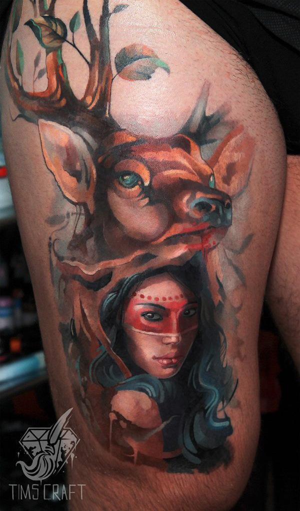 89 Ideas para Tatuajes de Ciervos (+Significado) 17