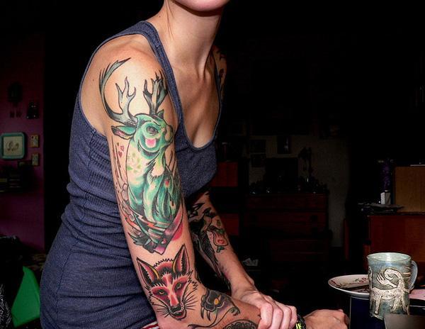 89 Ideas para Tatuajes de Ciervos (+Significado) 20