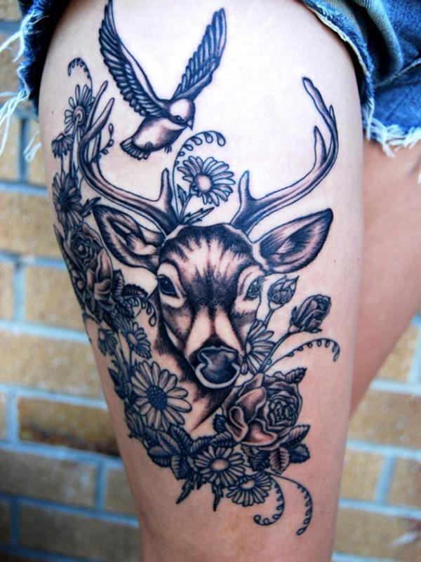 89 Ideas para Tatuajes de Ciervos (+Significado) 22