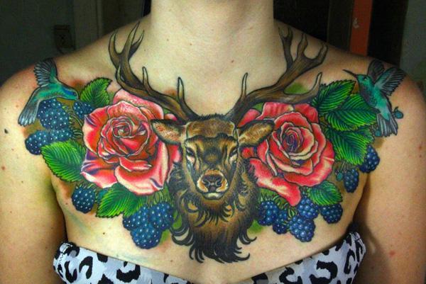89 Ideas para Tatuajes de Ciervos (+Significado) 45