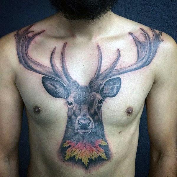 89 Ideas para Tatuajes de Ciervos (+Significado) 57