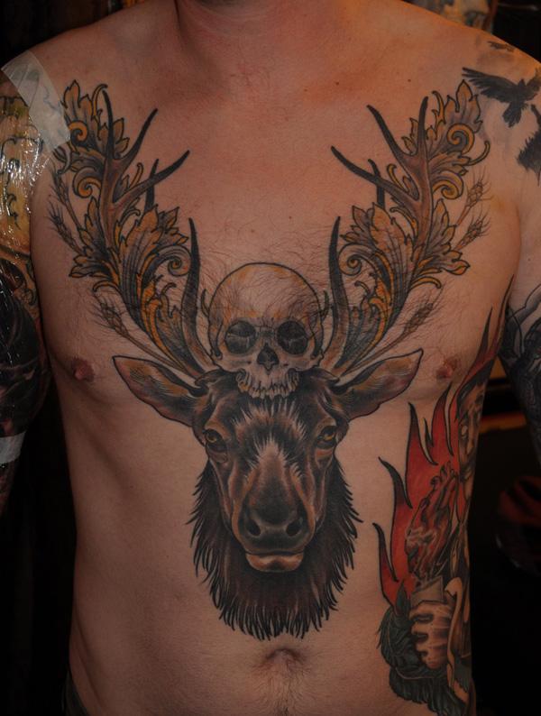 89 Ideas para Tatuajes de Ciervos (+Significado) 46