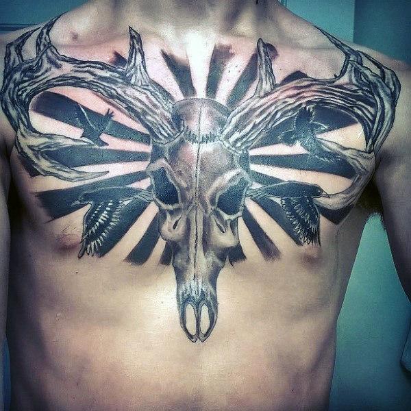 89 Ideas para Tatuajes de Ciervos (+Significado) 48