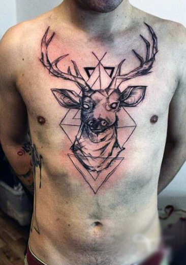 89 Ideas para Tatuajes de Ciervos (+Significado) 29