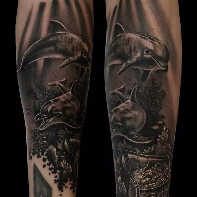 72 Ideas con Tatuajes de Delfines (+Significados) 37