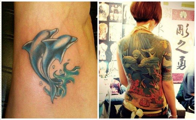 72 Ideas con Tatuajes de Delfines (+Significados) 85