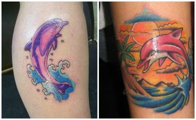 72 Ideas con Tatuajes de Delfines (+Significados) 88