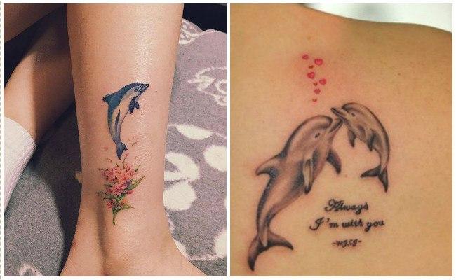 72 Ideas con Tatuajes de Delfines (+Significados) 80