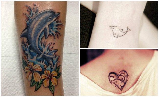 72 Ideas con Tatuajes de Delfines (+Significados) 82