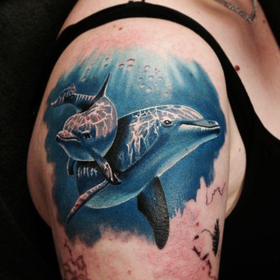 72 Ideas con Tatuajes de Delfines (+Significados) 23