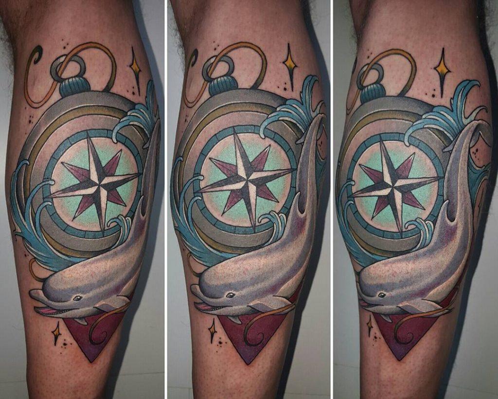 72 Ideas con Tatuajes de Delfines (+Significados) 43
