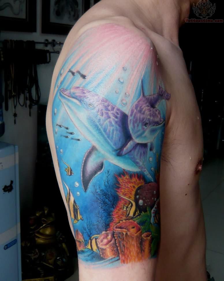 72 Ideas con Tatuajes de Delfines (+Significados) 44