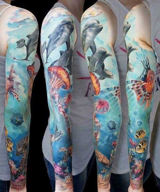 72 Ideas con Tatuajes de Delfines (+Significados) 46