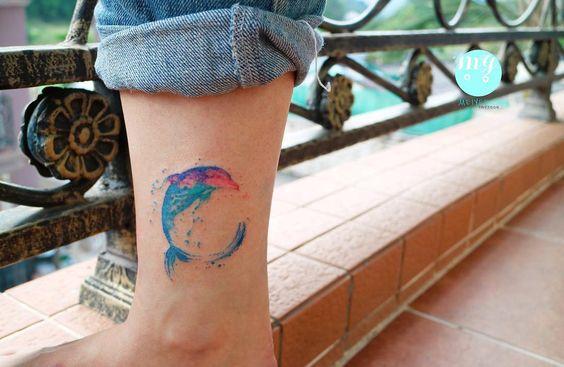 72 Ideas con Tatuajes de Delfines (+Significados) 32