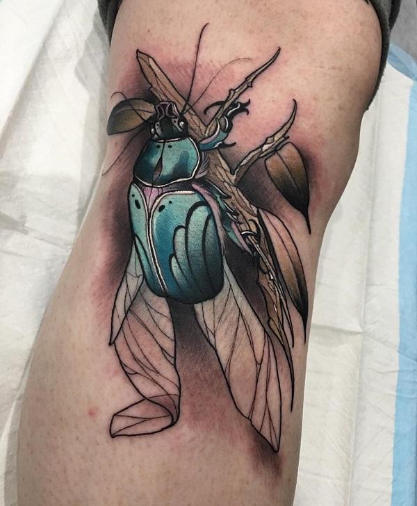 62 Ideas de Tatuajes de Escarabajos (+Significados) 35