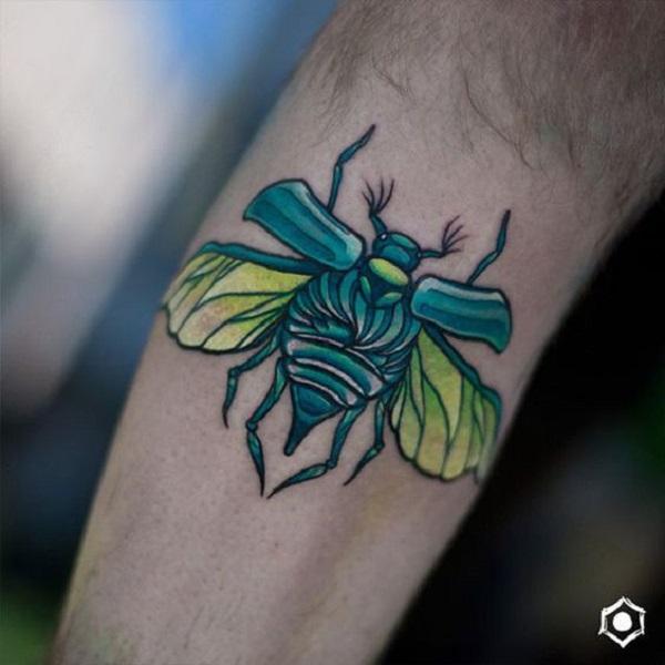 62 Ideas de Tatuajes de Escarabajos (+Significados) 37