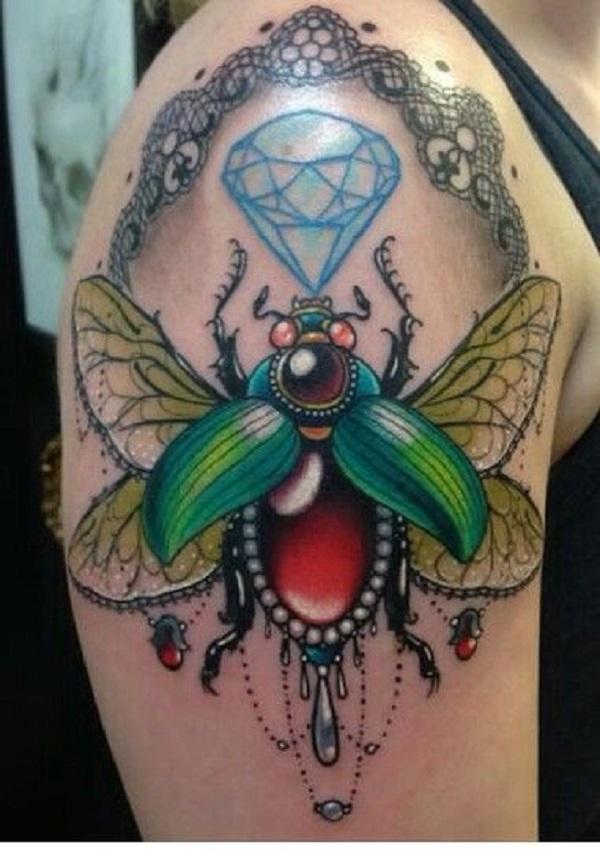 62 Ideas de Tatuajes de Escarabajos (+Significados) 2