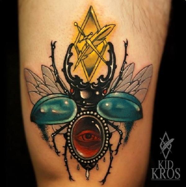 62 Ideas de Tatuajes de Escarabajos (+Significados) 3