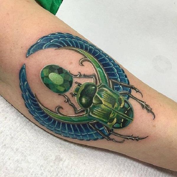 62 Ideas de Tatuajes de Escarabajos (+Significados) 5