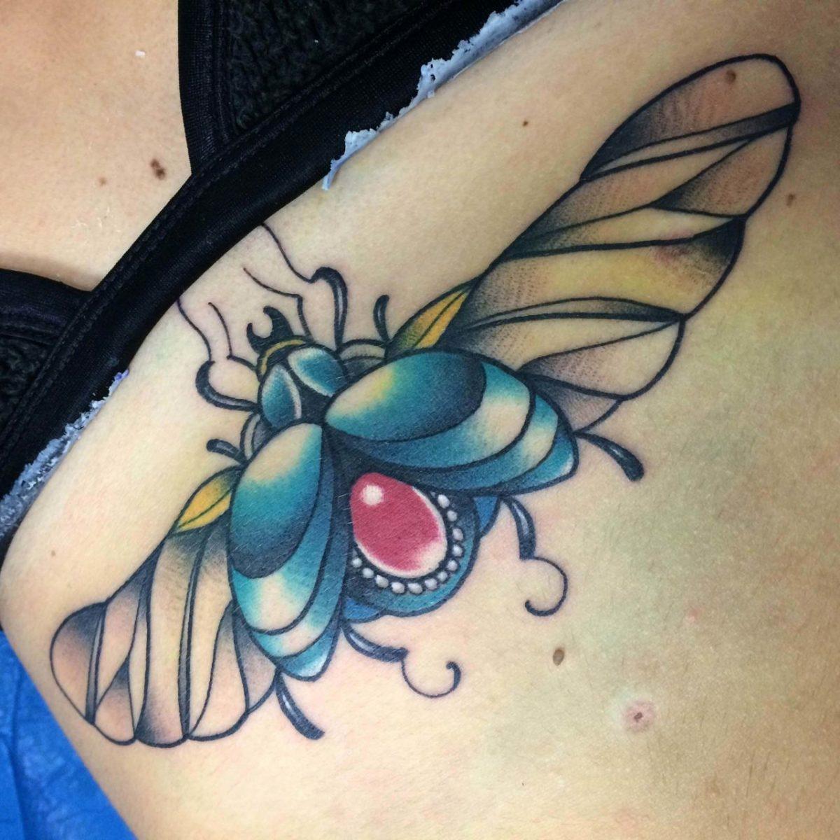 62 Ideas de Tatuajes de Escarabajos (+Significados) 7