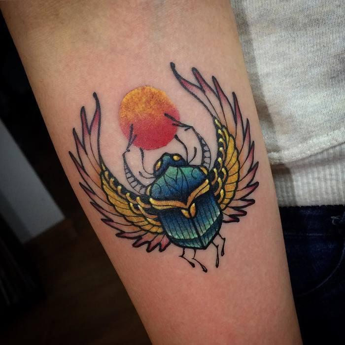62 Ideas de Tatuajes de Escarabajos (+Significados) 8