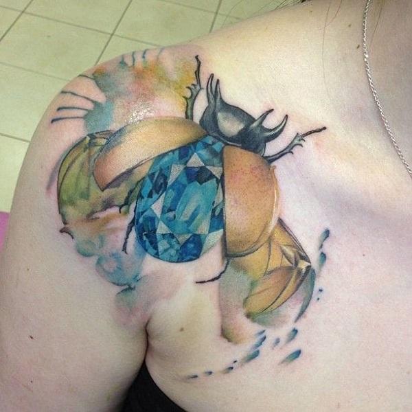 62 Ideas de Tatuajes de Escarabajos (+Significados) 26