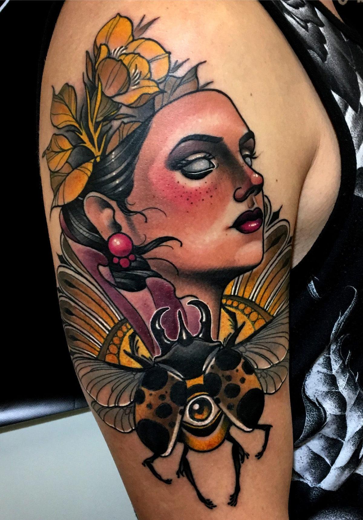 62 Ideas de Tatuajes de Escarabajos (+Significados) 31