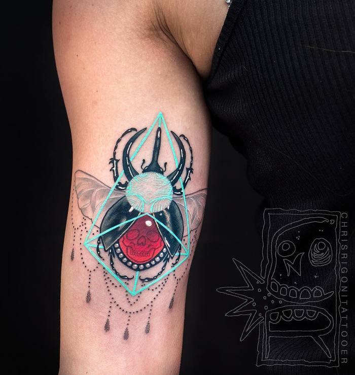 62 Ideas de Tatuajes de Escarabajos (+Significados) 33
