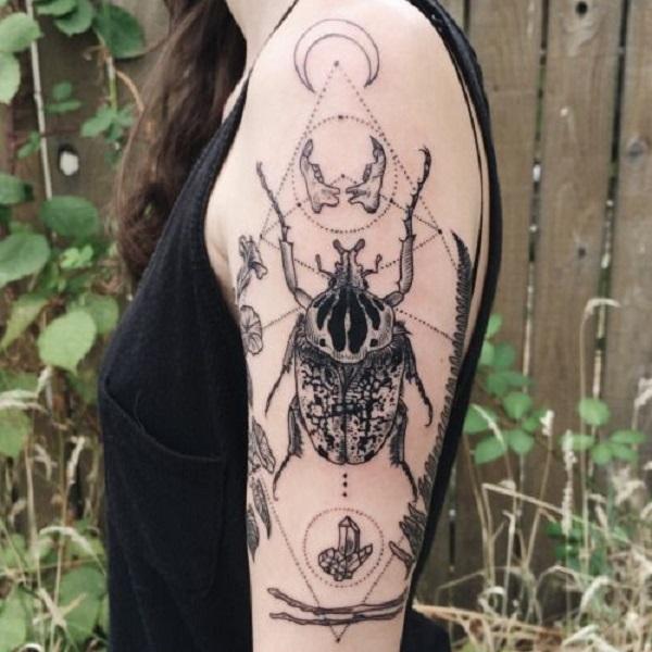62 Ideas de Tatuajes de Escarabajos (+Significados) 12