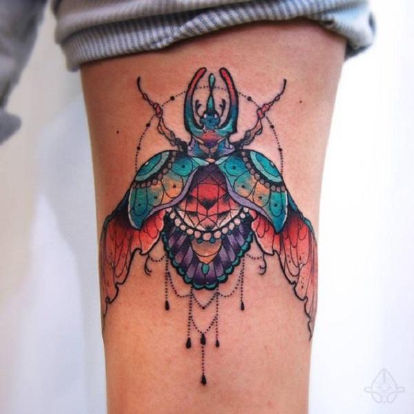 62 Ideas de Tatuajes de Escarabajos (+Significados) 13