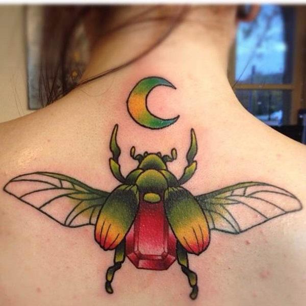 62 Ideas de Tatuajes de Escarabajos (+Significados) 14