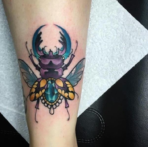 62 Ideas de Tatuajes de Escarabajos (+Significados) 16