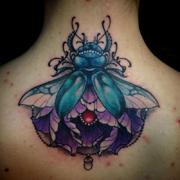 62 Ideas de Tatuajes de Escarabajos (+Significados) 17