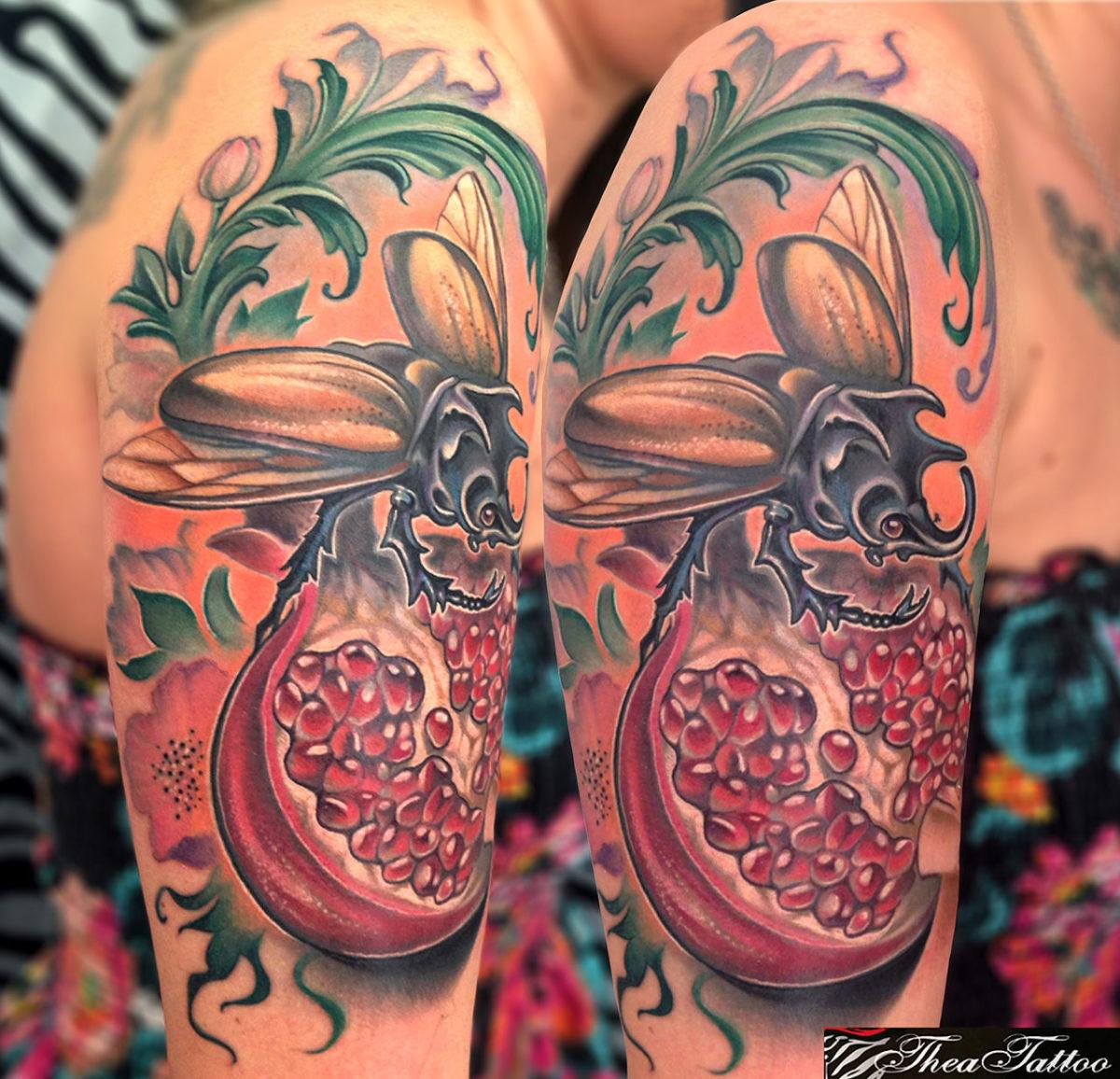 62 Ideas de Tatuajes de Escarabajos (+Significados) 19