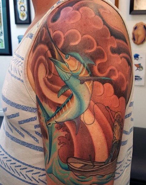 Ideas para Tatuajes de Pesca y Anzuelos 58