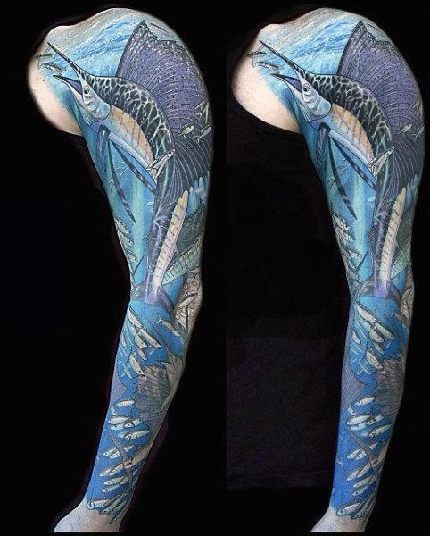 Ideas para Tatuajes de Pesca y Anzuelos 61
