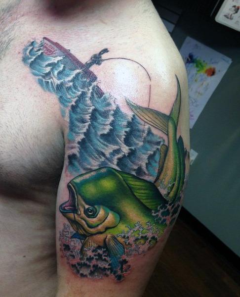 Ideas para Tatuajes de Pesca y Anzuelos 15
